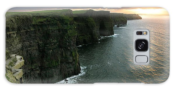 Sunset At The Cliffs Of Moher Ireland Galaxy Case