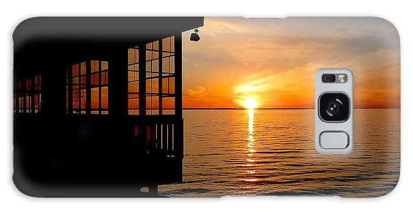 Sunset At The Crab Shack Galaxy Case