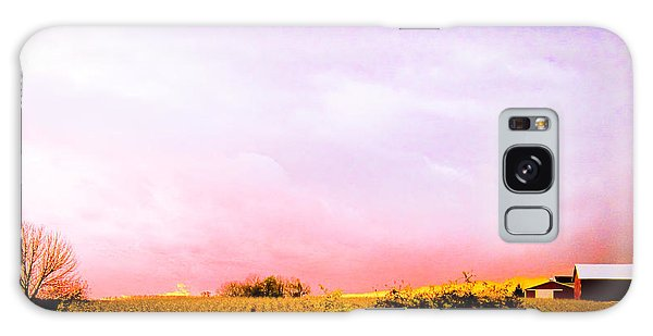 Sunset At The Farm Galaxy Case by Sara Frank