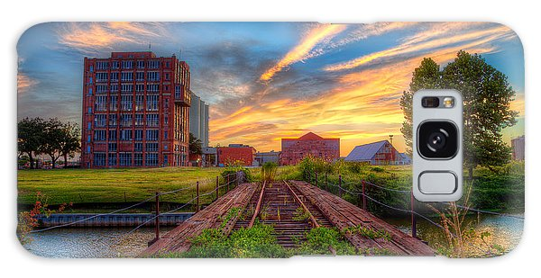 Sunset At The Imperial Sugar Factory Early Stage Landscape Galaxy Case