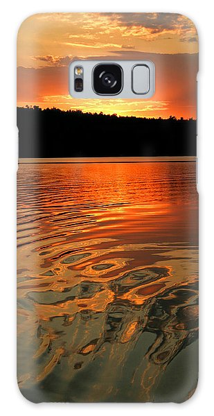 Sunset At The Lake Galaxy Case