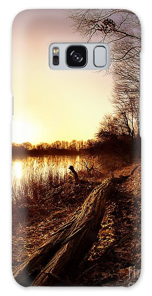 Sunset At The Lake Galaxy Case by Daniel Heine