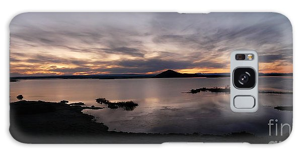 Sunset Over Lake Myvatn In Iceland Galaxy Case by IPics Photography