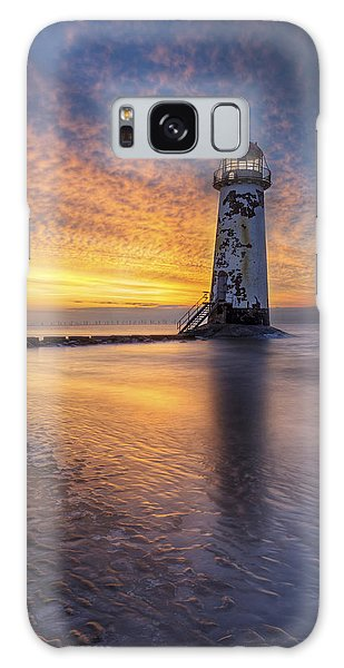 Sunset At The Lighthouse Galaxy Case by Ian Mitchell