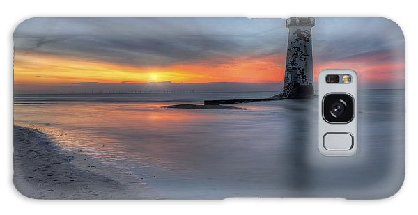 Sunset At The Lighthouse V3 Galaxy Case by Ian Mitchell