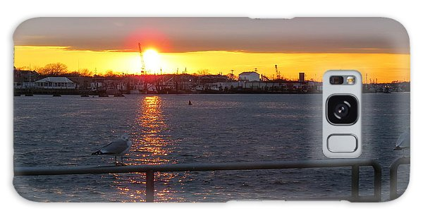 Sunset At The Manasquan Inlet Galaxy Case by Melinda Saminski