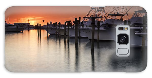 Sunset At The Pelican Yacht Club Galaxy Case