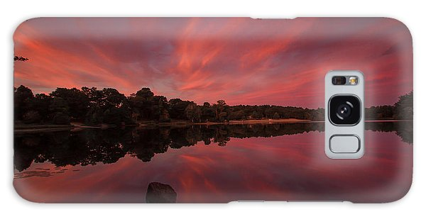 Sunset At The Pond Galaxy Case