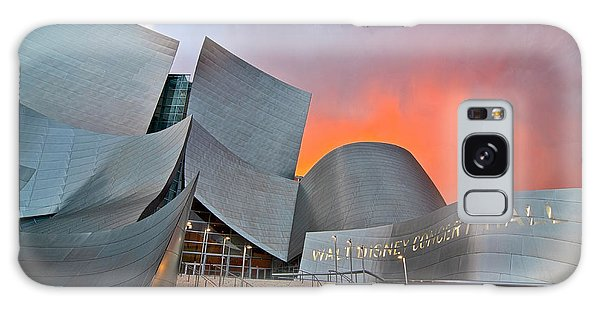 Walt Disney Concert Hall Galaxy Case - Sunset At The Walt Disney Concert Hall In Downtown Los Angeles. by Jamie Pham