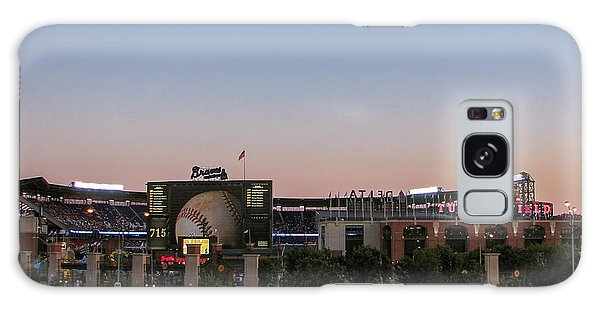 Sunset At Turner Field Galaxy Case by Tom Gort