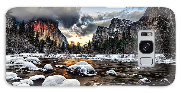 Sunset At Yosemite Valley Galaxy Case