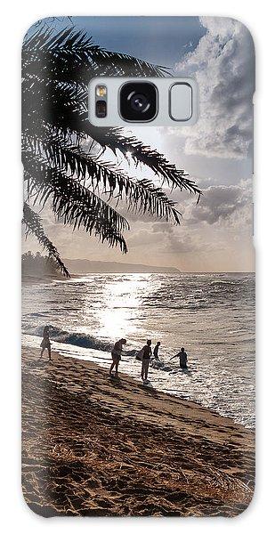 Sunset Beach Park Galaxy Case