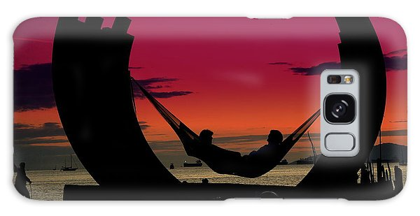 Sunset Beach Relaxation Galaxy Case