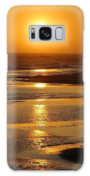 Sunset Beach Galaxy Case by Richard Hinger
