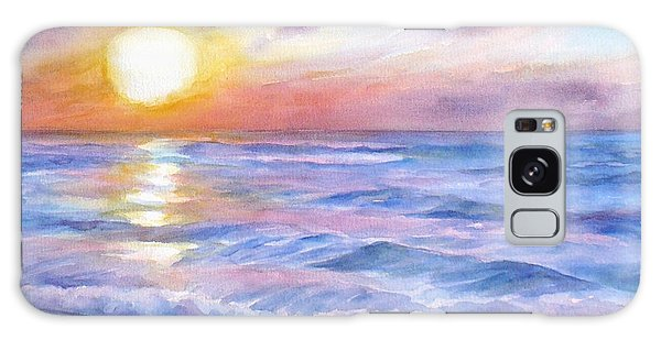 Sunset Beach Hawaii Seascape  Galaxy Case