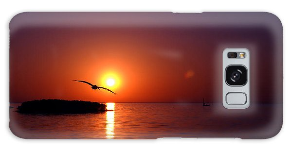 Sunset Blue Galaxy Case by Beverly Stapleton