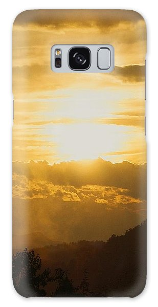 Sunset - Blue Ridge Mountains Galaxy Case by Photographic Arts And Design Studio