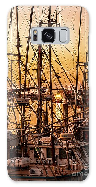 Sunset Boat Masts At Dock Morro Bay Marina Fine Art Photography Print Sale Galaxy Case