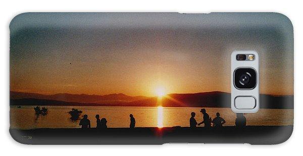 Beach Sunset Galaxy Case - Sunset Boulevard by Juan  Bosco