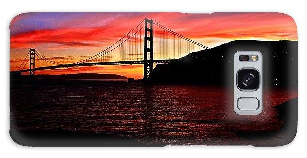 Sunset By The Bay Galaxy Case by Dave Files
