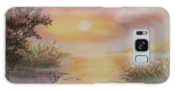 Sunset By The Lake Galaxy Case