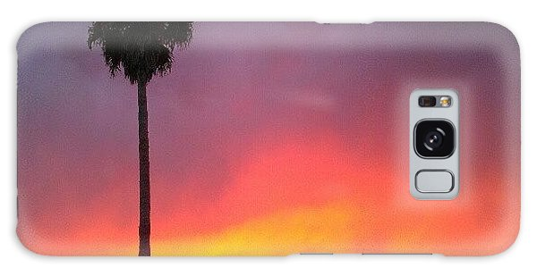Orange Galaxy Case - Sunset California by CML Brown