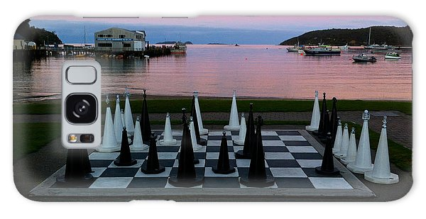 Sunset Chess At Half Moon Bay Galaxy Case