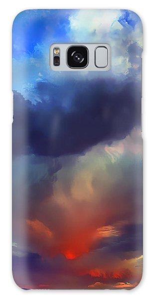 Sunset Clouds Over Albuquerque Galaxy Case by Wernher Krutein