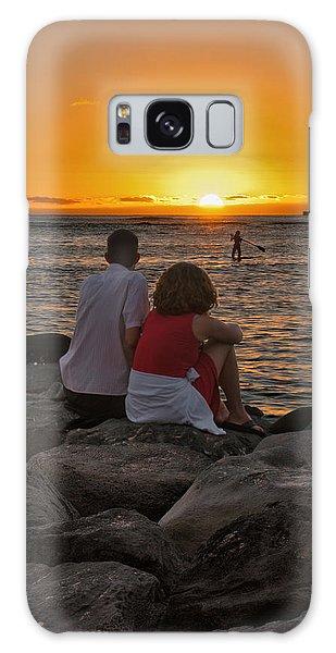 Sunset Moment Galaxy Case by John Swartz