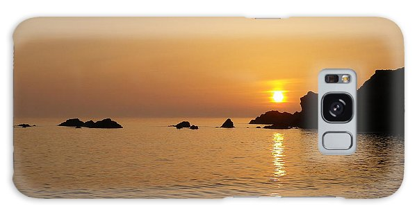 Sunset Crooklets Beach Bude Cornwall Galaxy Case