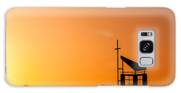 Sunset Cross Galaxy Case