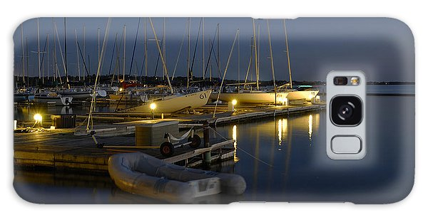 Sunset Dock Galaxy Case by Charles Beeler