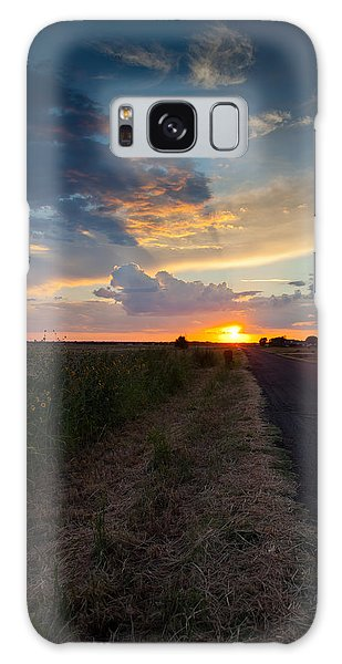 Sunset Down A Country Road Galaxy Case