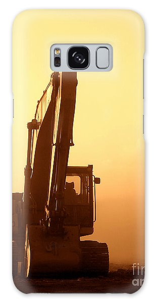 Sunset Excavator Galaxy Case