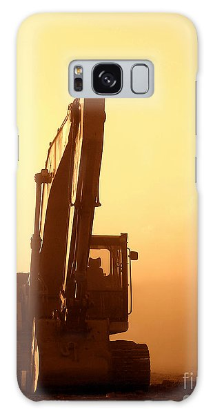 Sunset Excavator Galaxy Case