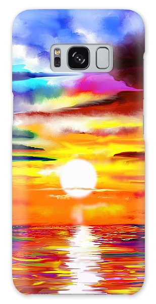 Sunset Explosion Galaxy Case