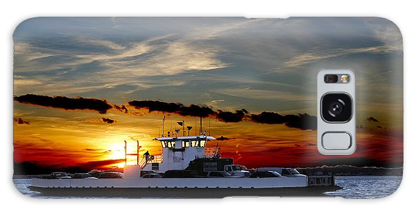 Galaxy Case - Sunset Ferry by Frank Savarese