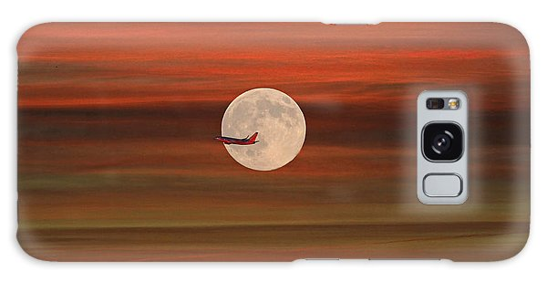 Sunset Flight With Full Moon Galaxy Case