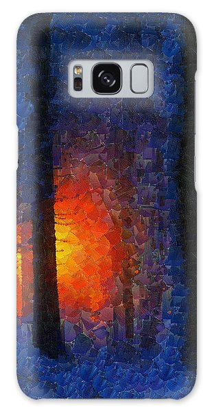 Sunset Forest Winter Galaxy Case