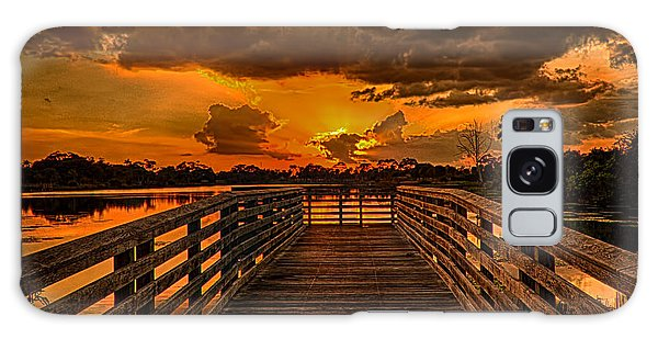 Sunset From The Dock Galaxy Case by Don Durfee