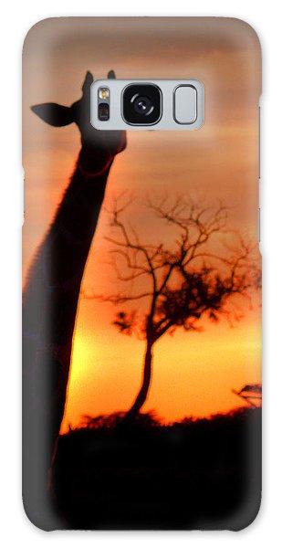 Sunset Giraffe Galaxy Case