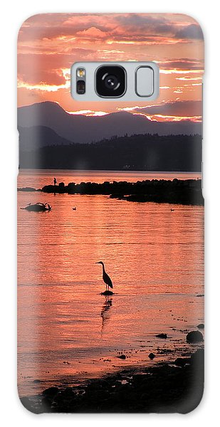 Sunset Heron Galaxy Case by Brian Chase