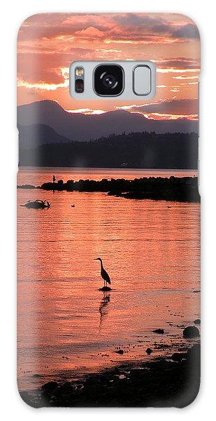 Sunset Heron Galaxy Case