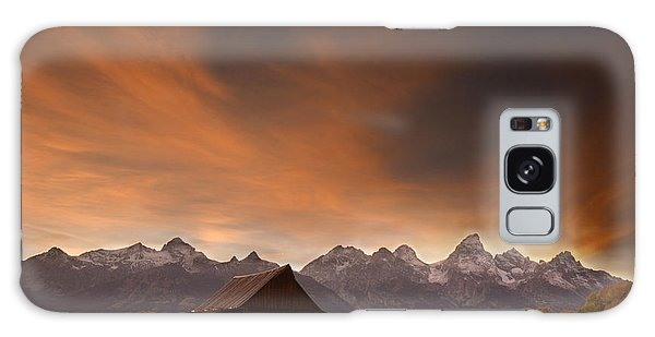 Sunset II At The Thomas Moulton Barn Galaxy Case
