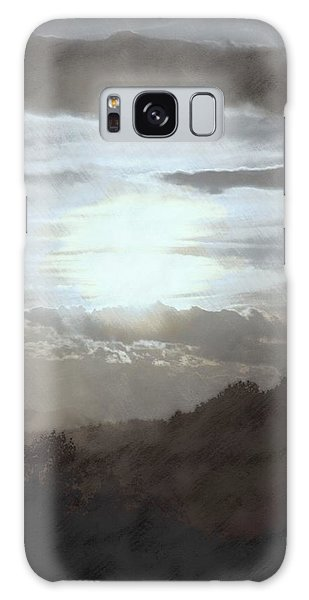 Sunset Impressions Over The Blue Ridge Mountains Galaxy Case by Photographic Arts And Design Studio