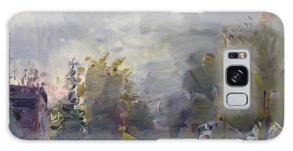 Fog Galaxy Case - Sunset In A Foggy Fall Day by Ylli Haruni