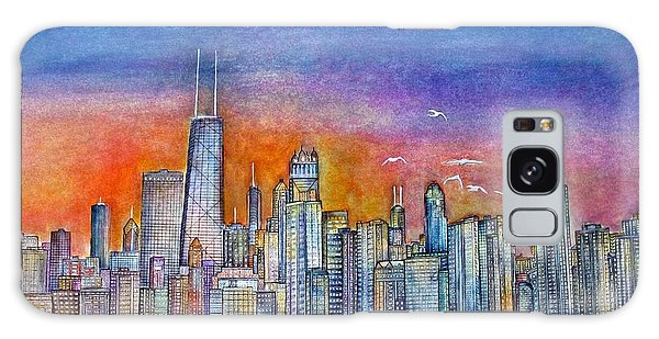 Sunset In Chi Town Galaxy Case