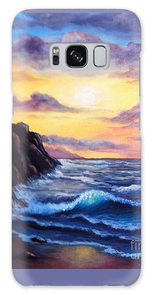 Sunset In Colors Galaxy Case by Bozena Zajaczkowska