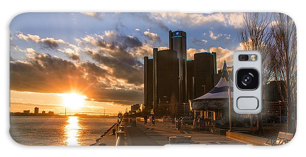 Sunset In Detroit  Galaxy Case by John McGraw