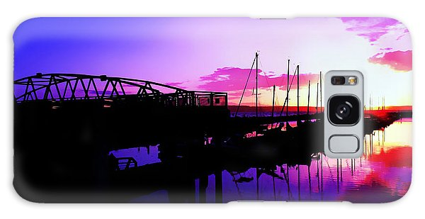 Sunset In Edmonds Washington Boat Marina  Galaxy Case